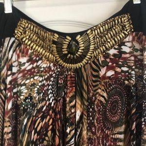 Embellished Waist Maxi Skirt